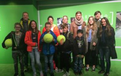 Unsere Tennis-Kids beim Fed-Cup