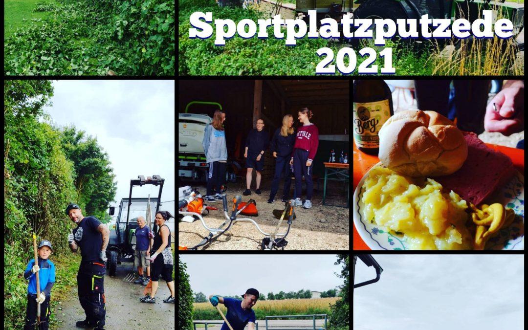 Bericht Sportplatzputzede 25.07.2021